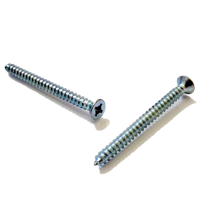 """Flat-Head Zinc-Plated Metal Screws - #14 x 1 1/2"""" - 100/Box"""