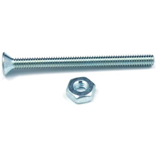 """Flat-Head Machine Screws with Nut - #6 x 5/8"""" - 12/Box"""