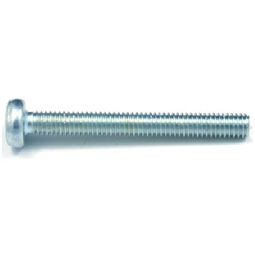 Vis mécanique zinguée, tête ronde, M4, 12 mm, 9/bte