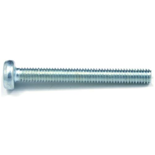 Vis mécanique zinguée, tête ronde, M4, 50 mm, 9/bte