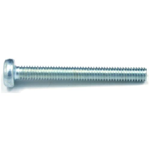 Pan-Head Zinc-Plated Machine Screws - M5 x 35 mm - 4/Box