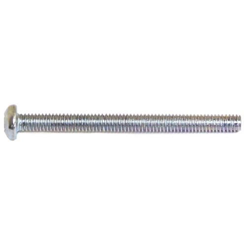 "Pan-Head Zinc-Plated Machine Screws - #10 x 3"" - 100/Box"