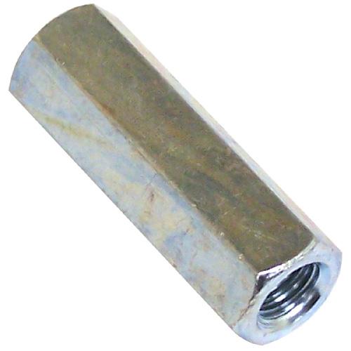"Écrou de raccord hexagonal, 1""-8 x 21/2"", zinc"