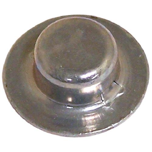 "Hubcap Nut Cover - Stamped Steel - 5/16"" x 0.236"" - Zinc - 4PK"