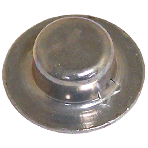 "Hubcap Nut Cover - Stamped Steel - 1/2"" x 0.328"" - Zinc - 2PK"