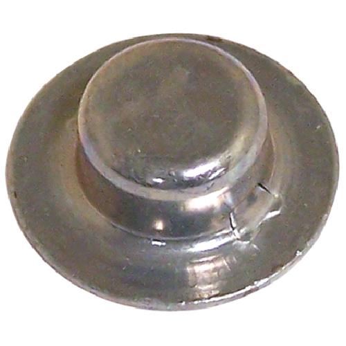 "Hubcap Nut Cover - Stamped Steel - 5/8"" x 0.413"" - Zinc - 2PK"