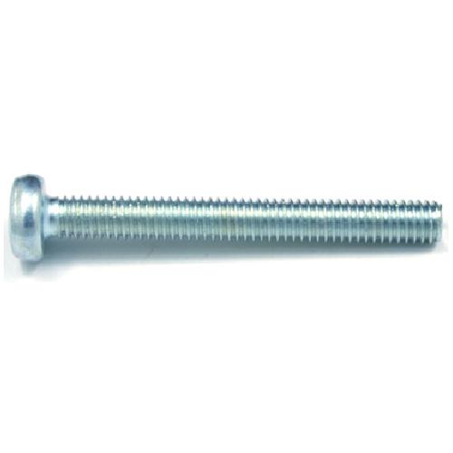 Vis mécanique zinguée, tête ronde, M4, 40 mm, 5/bte