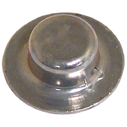 "Hubcap Nut Cover - Stamped Steel - 1/4"" x 0.205"" - Zinc - 4PK"