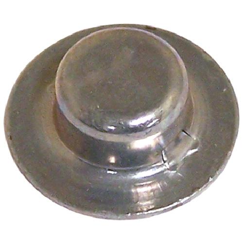 "Hubcap Nut Cover - Stamped Steel - 3/8"" x 0.27"" - Zinc - 2PK"
