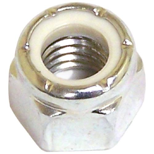 Écrou d'arrêt en acier/nylon, #10-32 pas, zinc, 8/pqt
