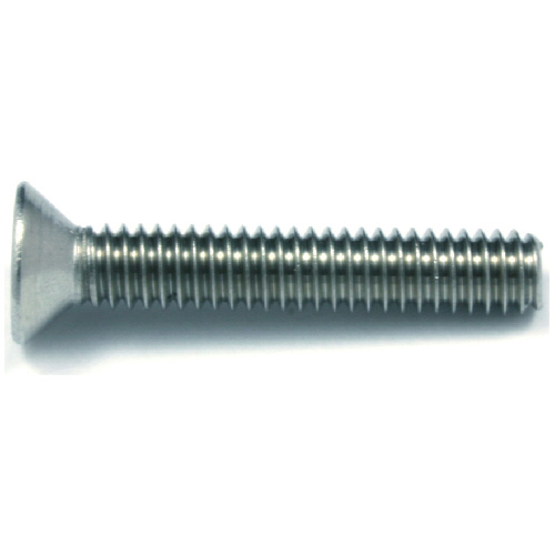 "Flat-Head Stainless Steel Machine Screws - #8 x 1/2"" - 7/Box"