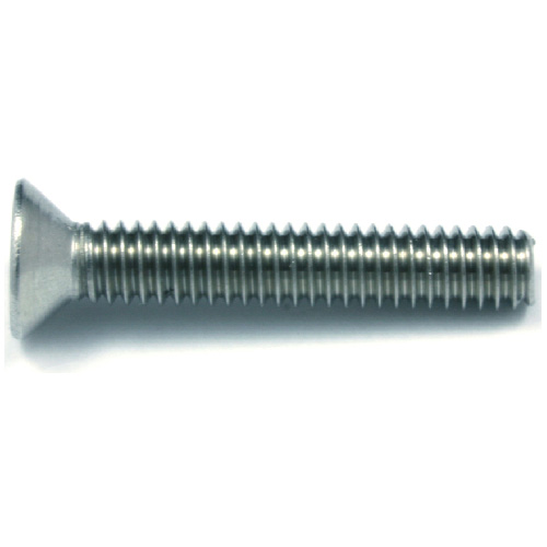 "Flat-Head Stainless Steel Machine Screws -#10 x 1"" - 4/Box"