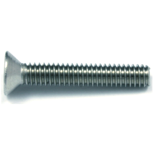 "Flat-Head Stainless Steel Machine Screws -#10 x 2"" - 2/Box"