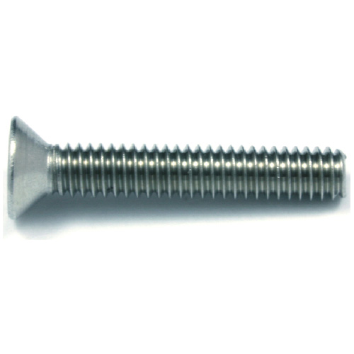 "Flat-Head Stainless Steel Machine Screws - 1/4"" x 1"" - 3/Box"