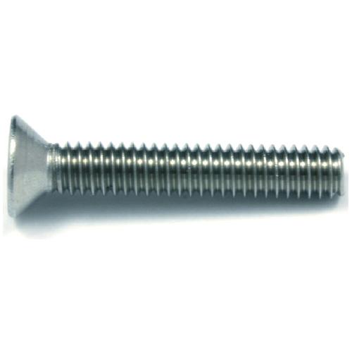 "Flat-Head Stainless Steel Machine Screws - 1/4"" x 2"" - 2/Box"