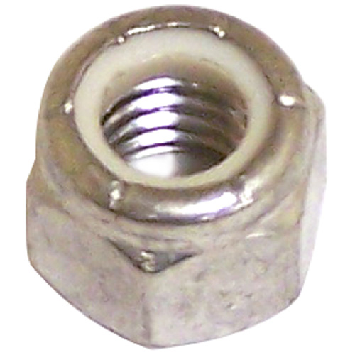 "Lock Nut - Stainless Steel/Nylon - 3/8""-16 pitch - 3PK"