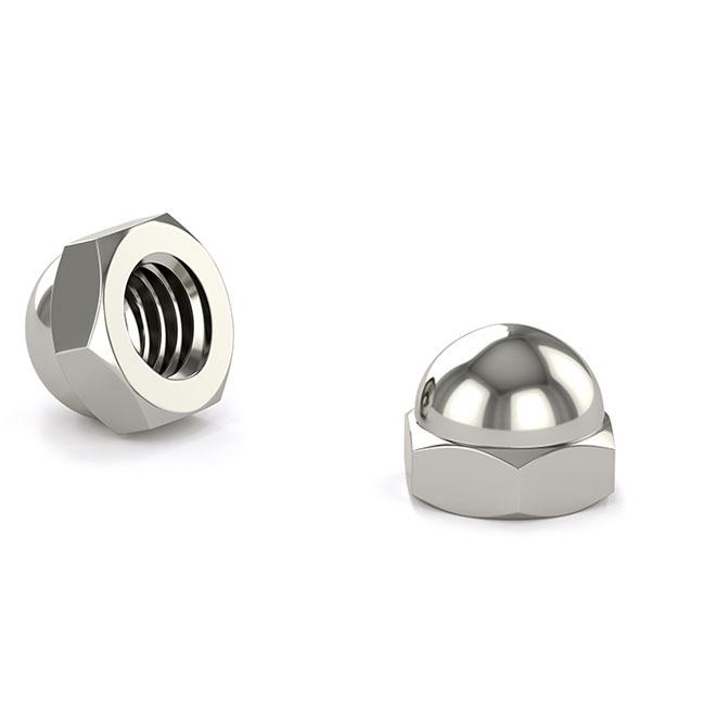 Acorn Cap Nut - #10-24 - 4/Pack - Nickel