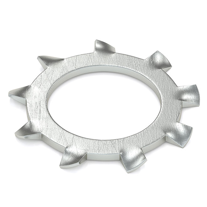 Rondelle d'arrêt à dents externes, #6, 35/pqt, zinc