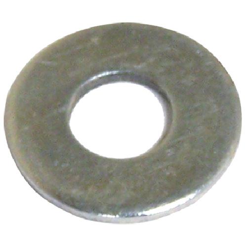 """Rondelles plates en acier, 7/16"""", boîte de 5 lb, fini zinc"""
