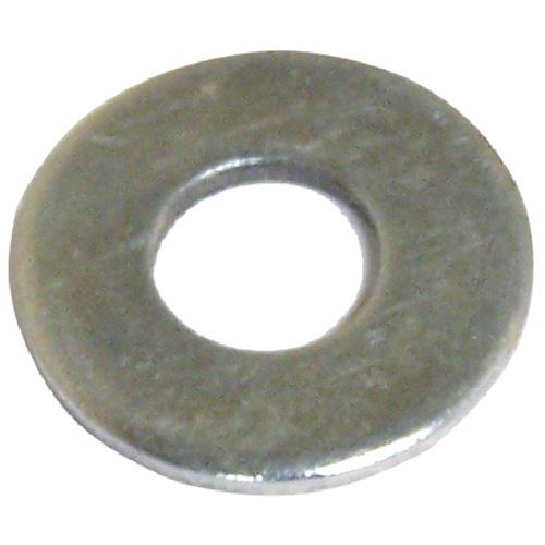 "Flat Washers - Steel - 1/2"" - Box of 5 lb - Zinc Finish"