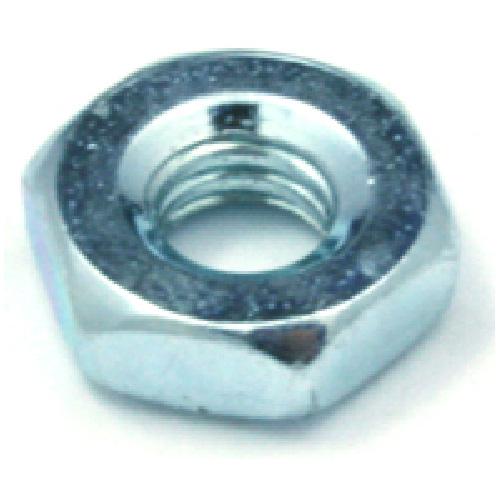 Écrou hexagonal, vis machine, #10 x 24 pas, 100/boîte, zinc