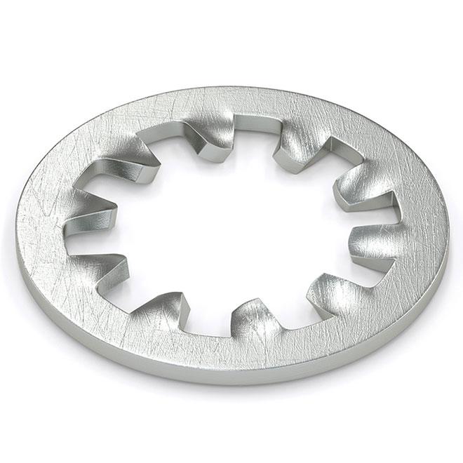 Rondelle d'arrêt à dents internes, #6, 35/pqt, zinc