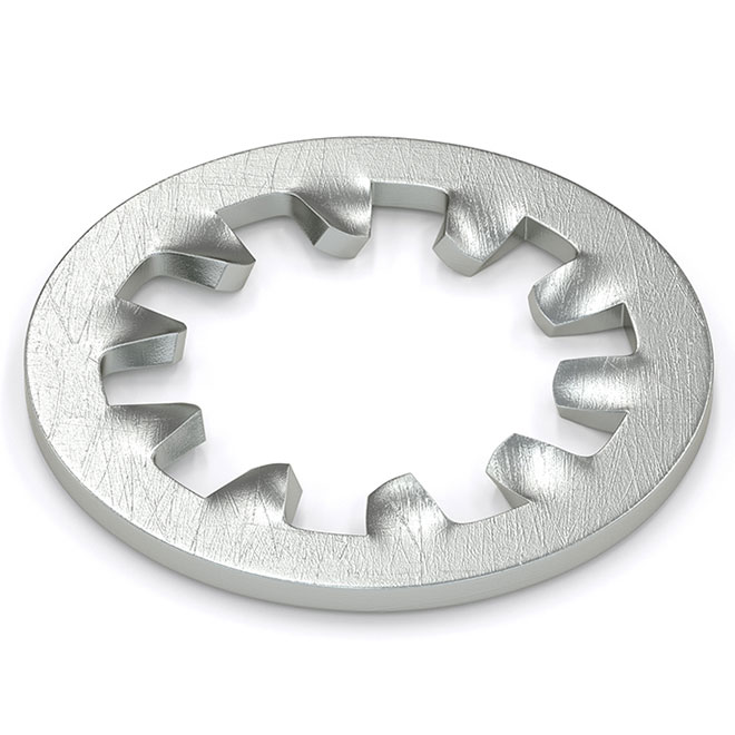 Lock Washer - Internal Toothed - #10 - 25/Pack - Zinc