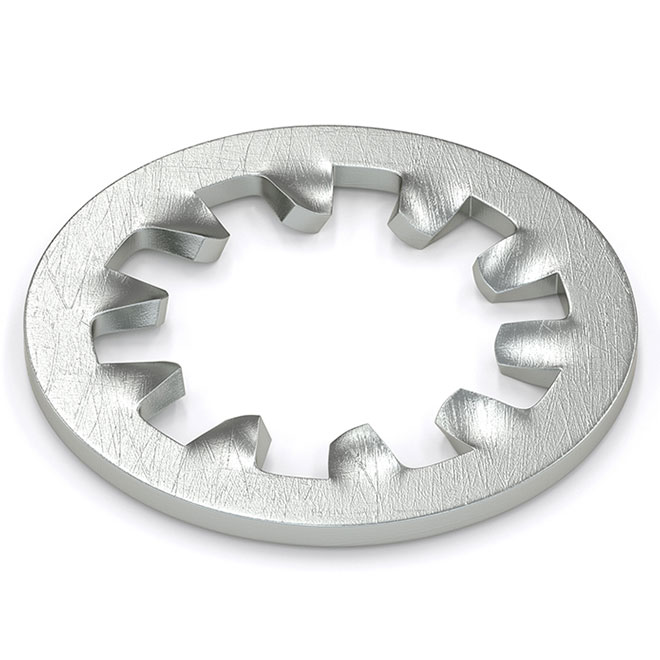 """Lock Washer - Internal Toothed - 1/4"""" - 20/Pack - Zinc"""