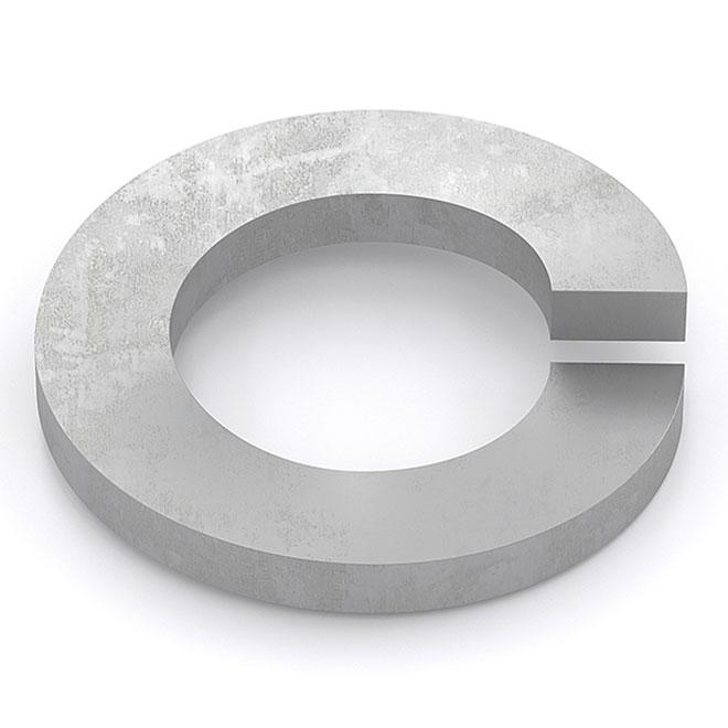 """Spring Lock Washer - 1/4"""" - 50/Box - Galvanized Steel"""