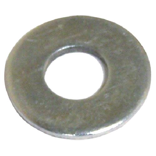 Rondelles plates en acier, M8, paquet de 6, fini zinc