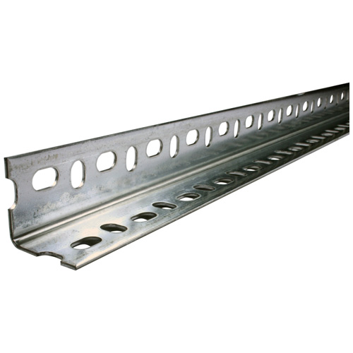 "Angle Bar - Perforated Galvanized Steel - 1 1/2"" x 4' x 5/64"""