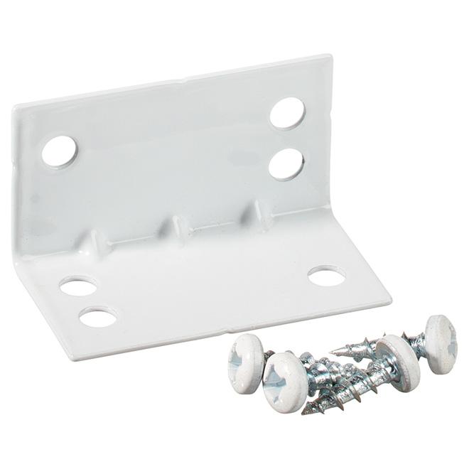 "Corner Brace - Steel - 1 3/4"" x 1"" - 25/PK - White"