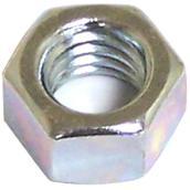 Écrou hexagonal plaqué zinc, M5 x 0,8 pas, 8/pqt