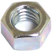 Écrou hexagonal plaqué zinc, M8 x 1,25 pas, 6/pqt
