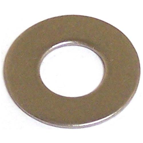Rondelles plates en acier inoxydable, #10, boîte de 12