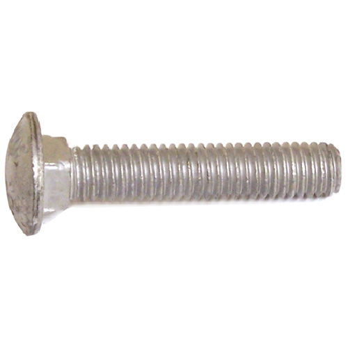 """Carriage Bolts - 1/2""""-13 - 8"""" - 10/Box - Galvanized Steel"""