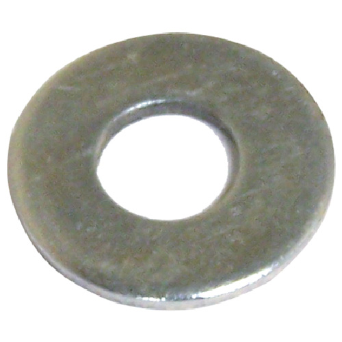 "Flat Washers - Steel - 1/8"" - Box of 35 - Zinc Finish"