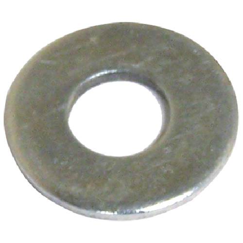 "Rondelles plates en acier, 7/16"", paquet de 4, fini zinc"