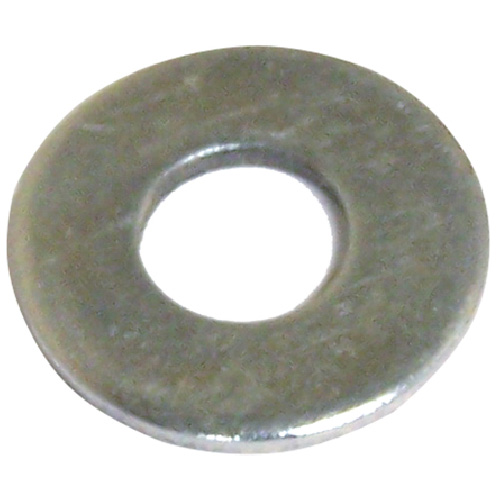 "Flat Washers - Steel - 1/2"" - pack of 4 - Zinc Finish"