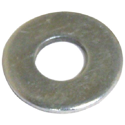 """Flat Washers - Steel - 1/8"""" - Box of 100 - Zinc Finish"""