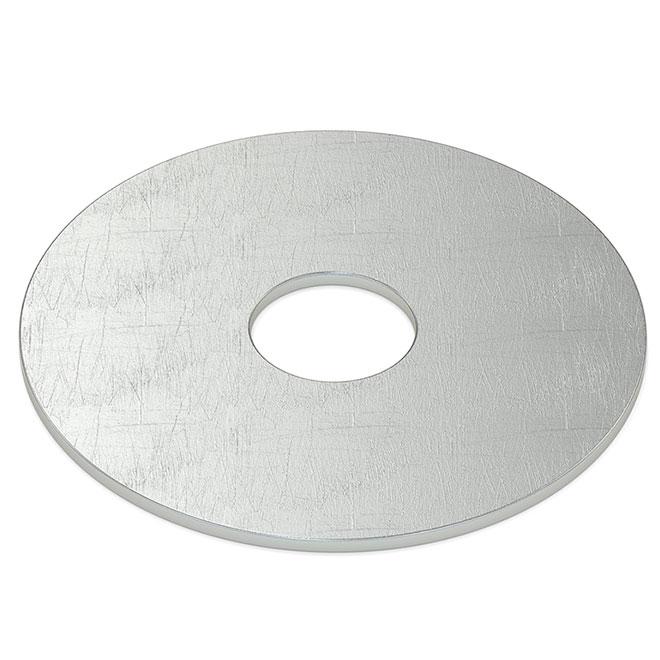 """Rondelle pare-choc en acier, 1/4"""", boîte de 75, zinc"""