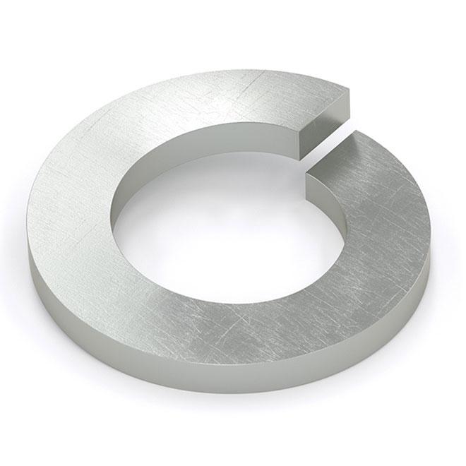 Rondelle d'arrêt à ressort, #10, 45/pqt, zinc