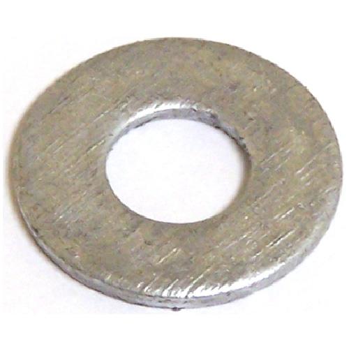 "Flat Washers - Steel - 1/4"" - Box of 50 - Galvanized Finish"