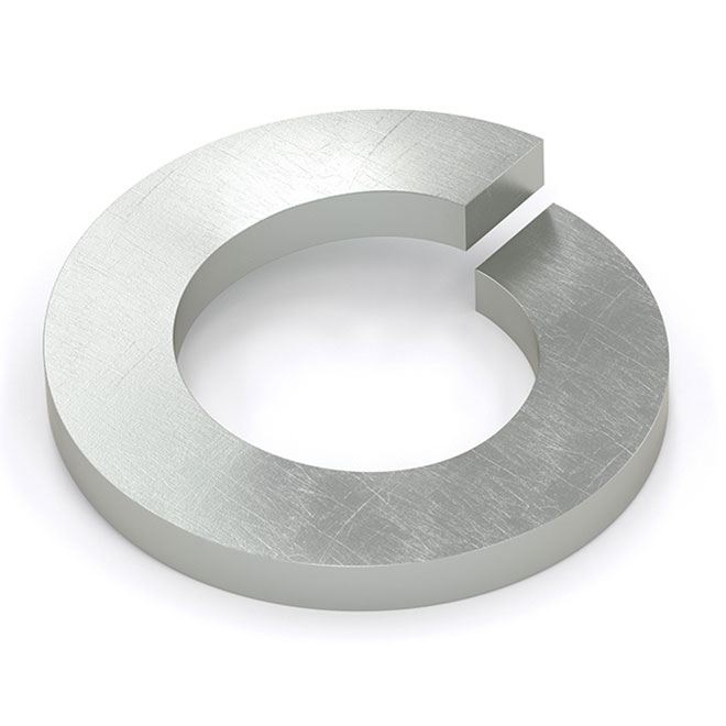 "Spring Lock Washer - 1/4"" - 100/Box - Zinc"