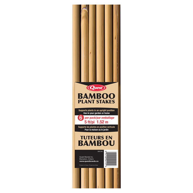 Bamboo Stakes - 5' - Natural - 6-Pack