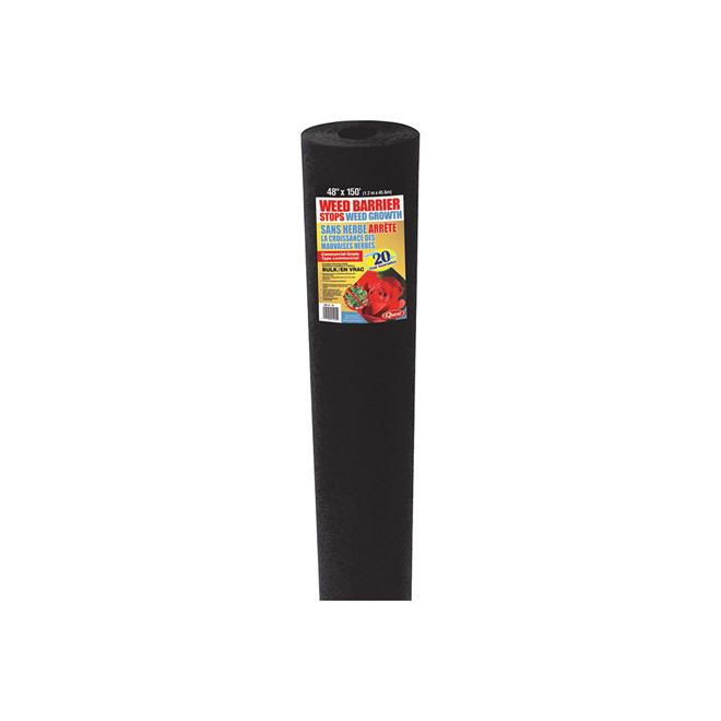 Couvre-parterre Thermolie 4' x 150', noir