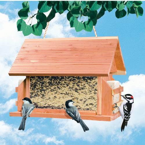 Bird Feeder with Suet Baskets - 8 lbs - Aromatic Cedar