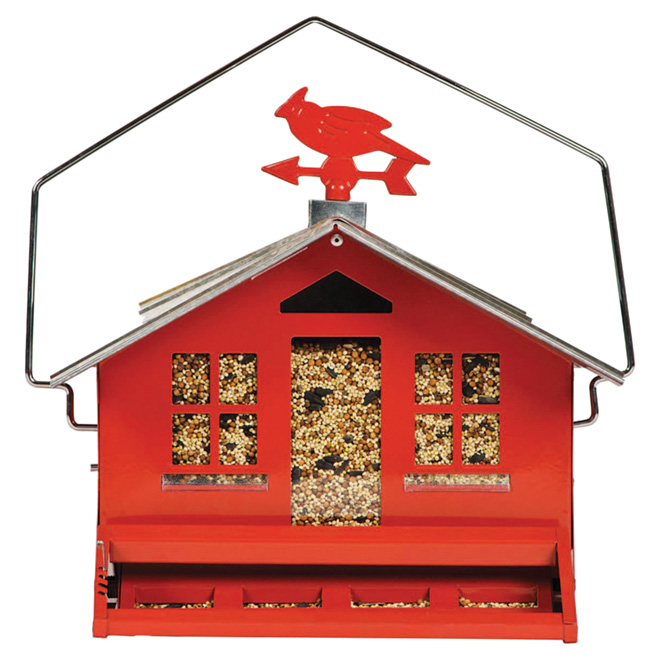 Country Style Bird Feeder - 12 lbs - Red