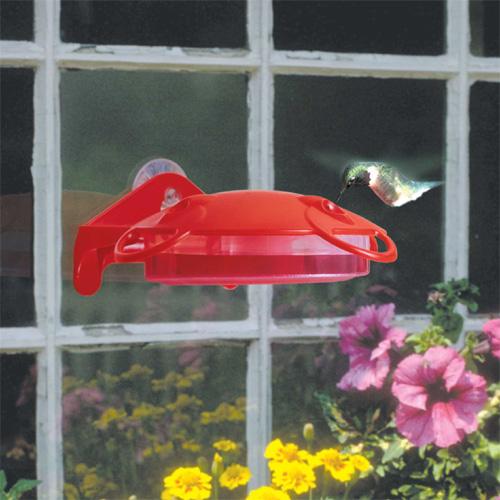 Hummingbird Feeder - 6 oz - Plastic - Red