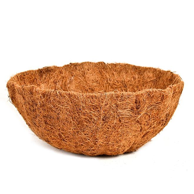 Panier rond suspendu en fibre de coco, 14 po